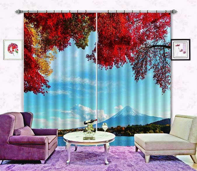 3D Mount Fuji Scenery 656 Curtains Drapes Wallpaper AJ Wallpaper