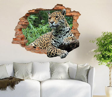 3D Leopard 188 Broken Wall Murals Wallpaper AJ Wallpaper