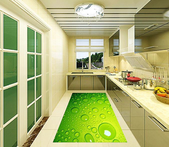 3D Water Drops 21 Kitchen Mat Floor Mural Wallpaper AJ Wallpaper