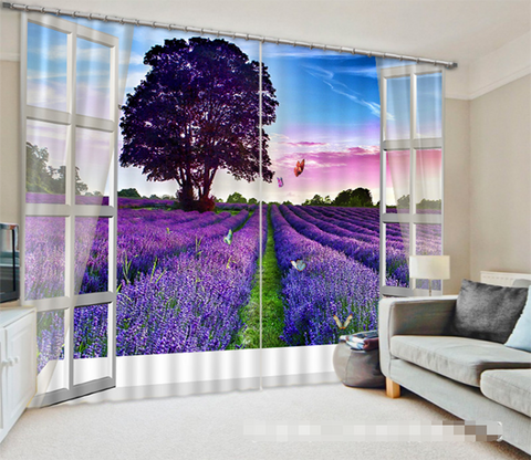3D Window Flowers Field 1319 Curtains Drapes Wallpaper AJ Wallpaper