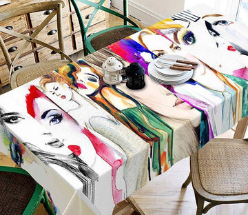 3D Graffiti Women 81 Tablecloths Wallpaper AJ Wallpaper