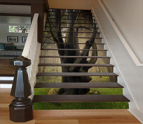 3D Forest Grand Tree 1608 Stair Risers