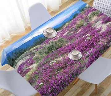 3D Mountain Flowers 107 Tablecloths Wallpaper AJ Wallpaper