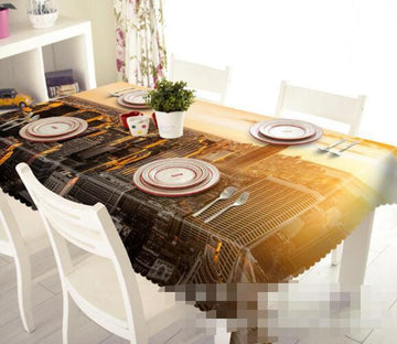 3D City Sunset 1211 Tablecloths Wallpaper AJ Wallpaper