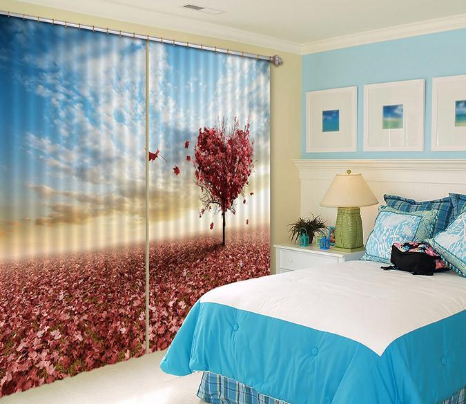 3D Heart Shape Tree 507 Curtains Drapes Wallpaper AJ Wallpaper