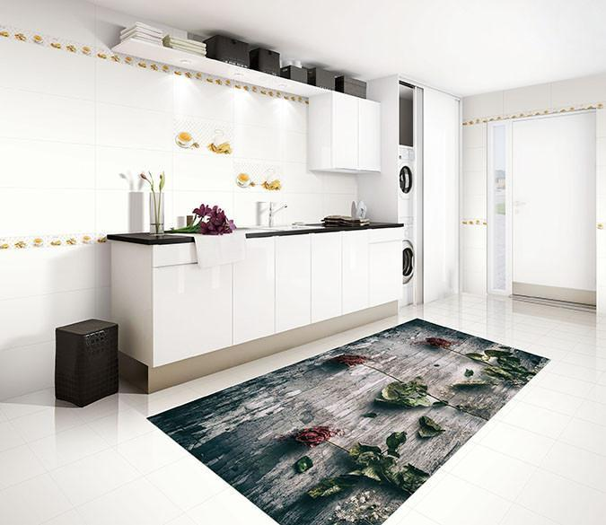 3D Withered Roses 41 Kitchen Mat Floor Mural Wallpaper AJ Wallpaper