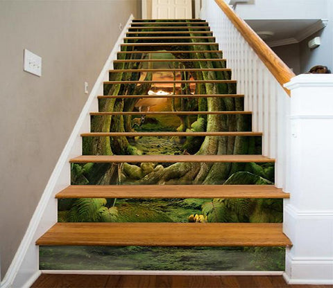 3D Forest Animals Path 933 Stair Risers