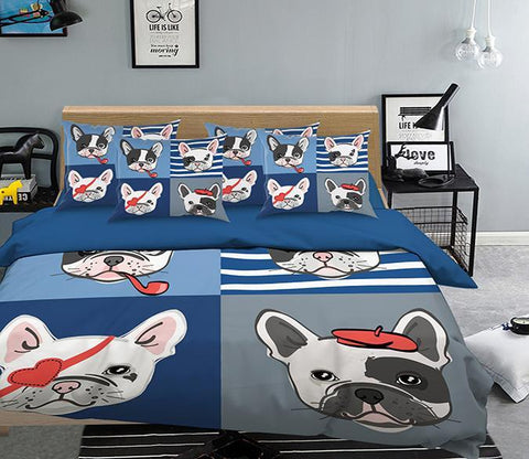 3D Funny Dog Pattern 312 Bed Pillowcases Quilt