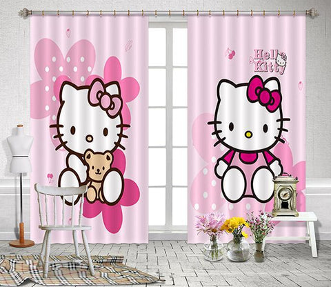 3D Cartoon Cats 2285 Curtains Drapes Wallpaper AJ Wallpaper