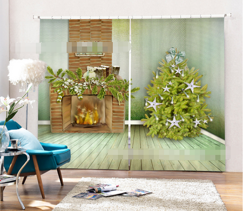 3D Christmas Tree 1365 Curtains Drapes