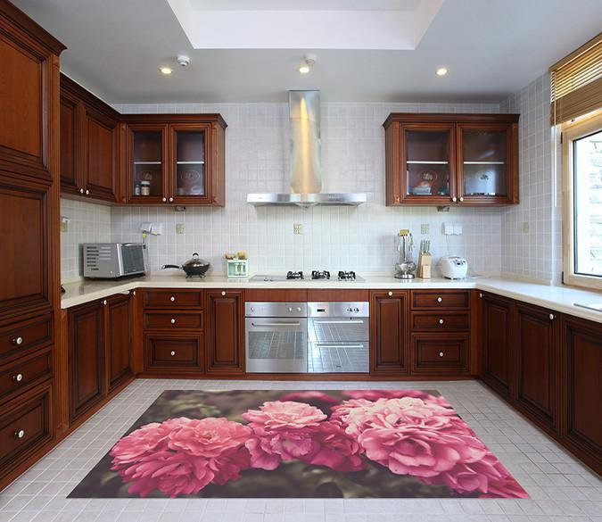 3D Flowers Cluster 510 Kitchen Mat Floor Mural Wallpaper AJ Wallpaper