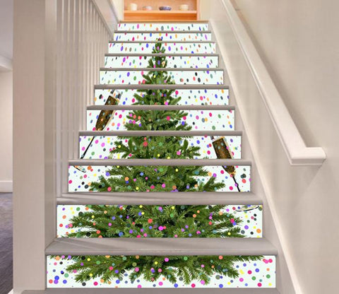 3D Christmas Tree 318 Stair Risers