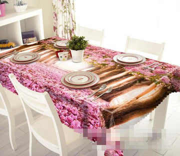 3D Trees Fallen Flowers 1293 Tablecloths Wallpaper AJ Wallpaper
