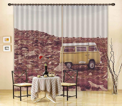 3D Stones Area Bus 371 Curtains Drapes Wallpaper AJ Wallpaper