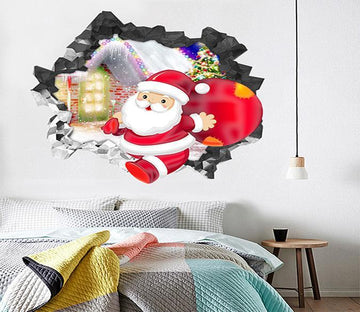 3D Lovely Santa Claus 16 Broken Wall Murals Wallpaper AJ Wallpaper