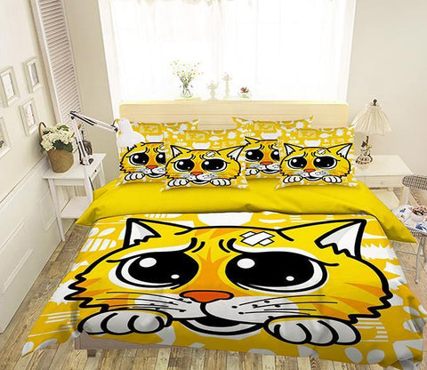 3D Lovely Cat 308 Bed Pillowcases Quilt
