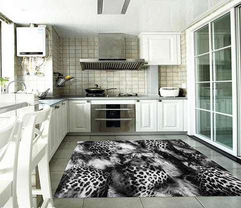 3D Animal Fur Kitchen Mat Floor Mural Wallpaper AJ Wallpaper