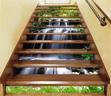 3D Waterfall Ups And Downs 1465 Stair Risers Wallpaper AJ Wallpaper
