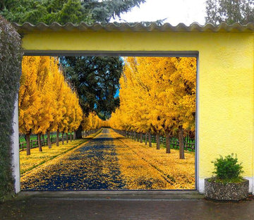 3D Autumn Ginkgo Trees 248 Garage Door Mural Wallpaper AJ Wallpaper