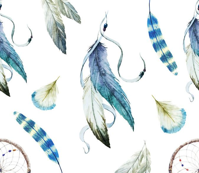 Various Feathers Wallpaper AJ Wallpaper