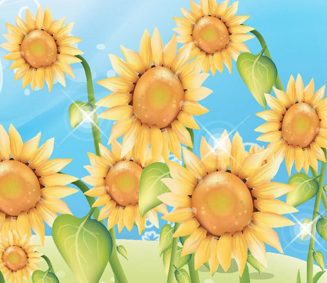 Shining Sunflowers Wallpaper AJ Wallpaper