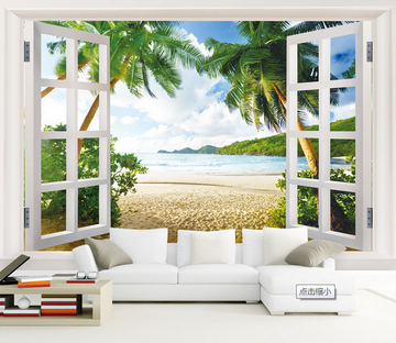 Window Beautiful Beach Wallpaper AJ Wallpaper