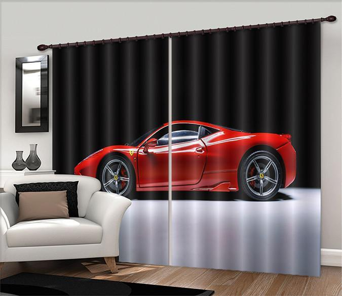 3D Ferrari Sports Car 565 Curtains Drapes Wallpaper AJ Wallpaper