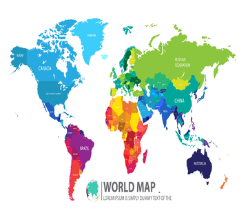 Colored World Map 2 Wallpaper AJ Wallpaper