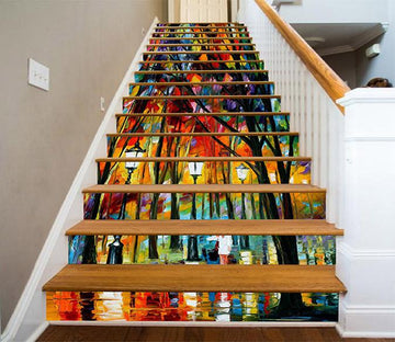 3D Street Oil Painting 762 Stair Risers Wallpaper AJ Wallpaper