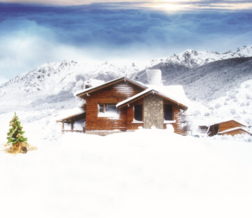 Wild Snowcapped Cottage Wallpaper AJ Wallpaper