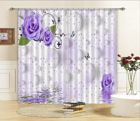 3D Bead Curtains Flowers Curtains Drapes Wallpaper AJ Wallpaper