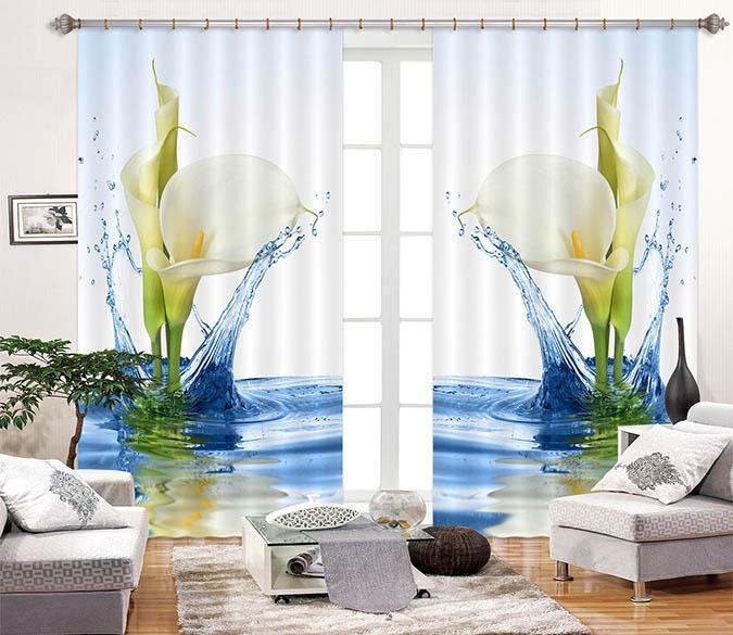 3D Pretty Pure Flowers 2280 Curtains Drapes Wallpaper AJ Wallpaper