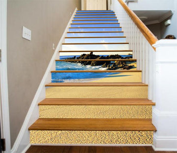 3D Beach Scenery 377 Stair Risers Wallpaper AJ Wallpaper