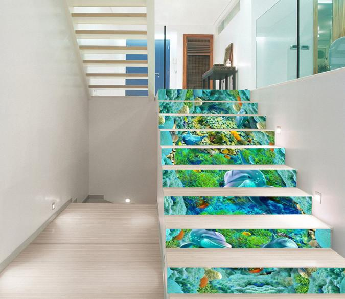 3D Beautiful Ocean World 78 Stair Risers Wallpaper AJ Wallpaper