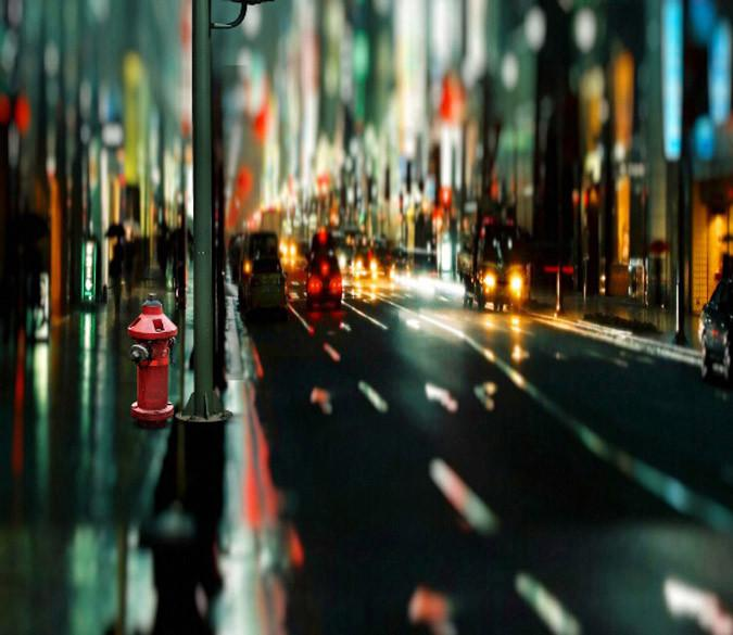 Bustling City Street Wallpaper AJ Wallpapers