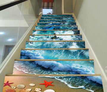 3D Pretty Beach Scenery 72 Stair Risers Wallpaper AJ Wallpaper