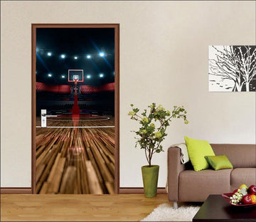 3D Basketball Hall 60 Door Mural Wallpaper AJ Wallpaper