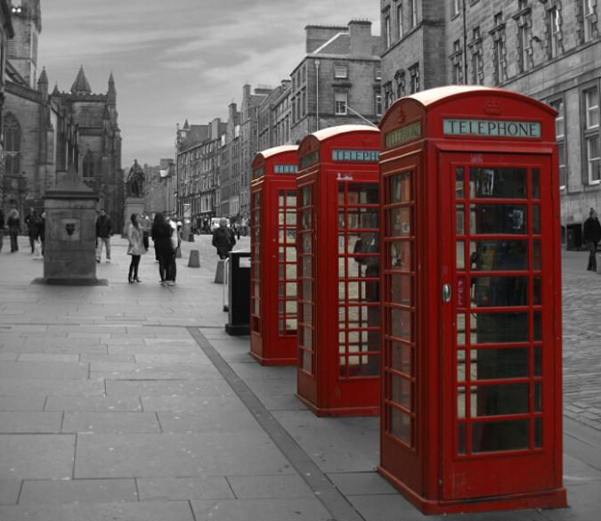 Street Telephone Boxes Wallpaper AJ Wallpapers