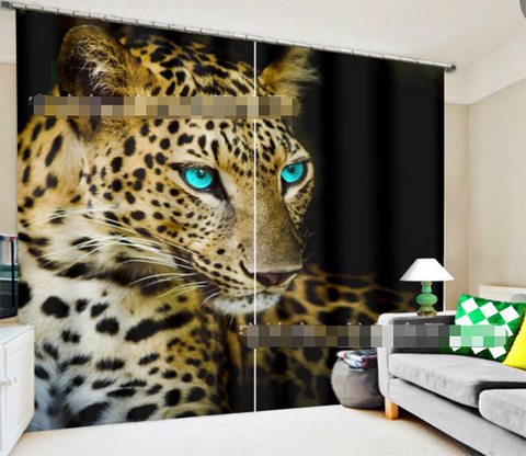 3D Leopard 2070 Curtains Drapes