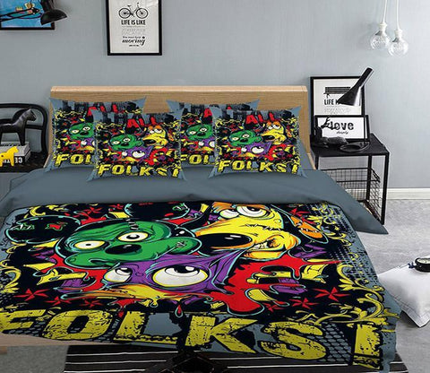 3D Funny Animals Pattern 332 Bed Pillowcases Quilt Wallpaper AJ Wallpaper