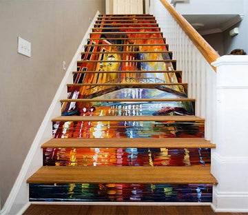 3D City Street Painting 1273 Stair Risers Wallpaper AJ Wallpaper