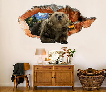 3D Lovely Bear 97 Broken Wall Murals Wallpaper AJ Wallpaper