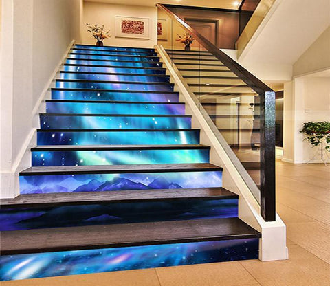 3D Beautiful Aurora 1546 Stair Risers Wallpaper AJ Wallpaper