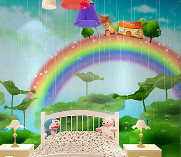 Rainbow House 1 Wallpaper AJ Wallpaper