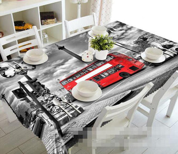 3D Red Bus 1110 Tablecloths Wallpaper AJ Wallpaper