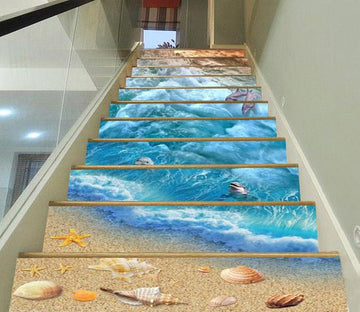 3D Beach Elements 74 Stair Risers Wallpaper AJ Wallpaper