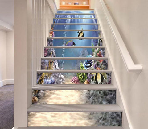 3D Seabed Road Scenery 375 Stair Risers