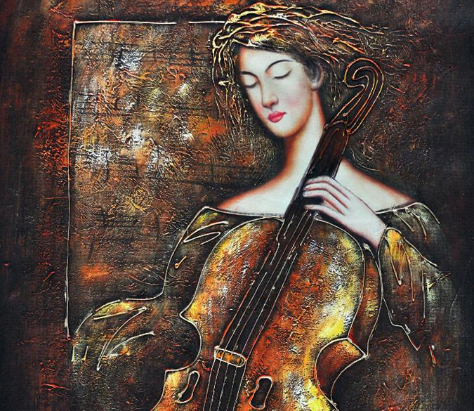 Play Cello Woman Wallpaper AJ Wallpaper