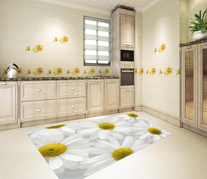 3D Chrysanthemums 526 Kitchen Mat Floor Mural Wallpaper AJ Wallpaper