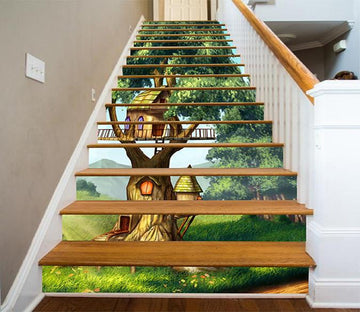 3D Lovely Tree House 1254 Stair Risers Wallpaper AJ Wallpaper